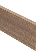 afzelia gebleekt rechte hoge plint voor laminaat, pvc en parket