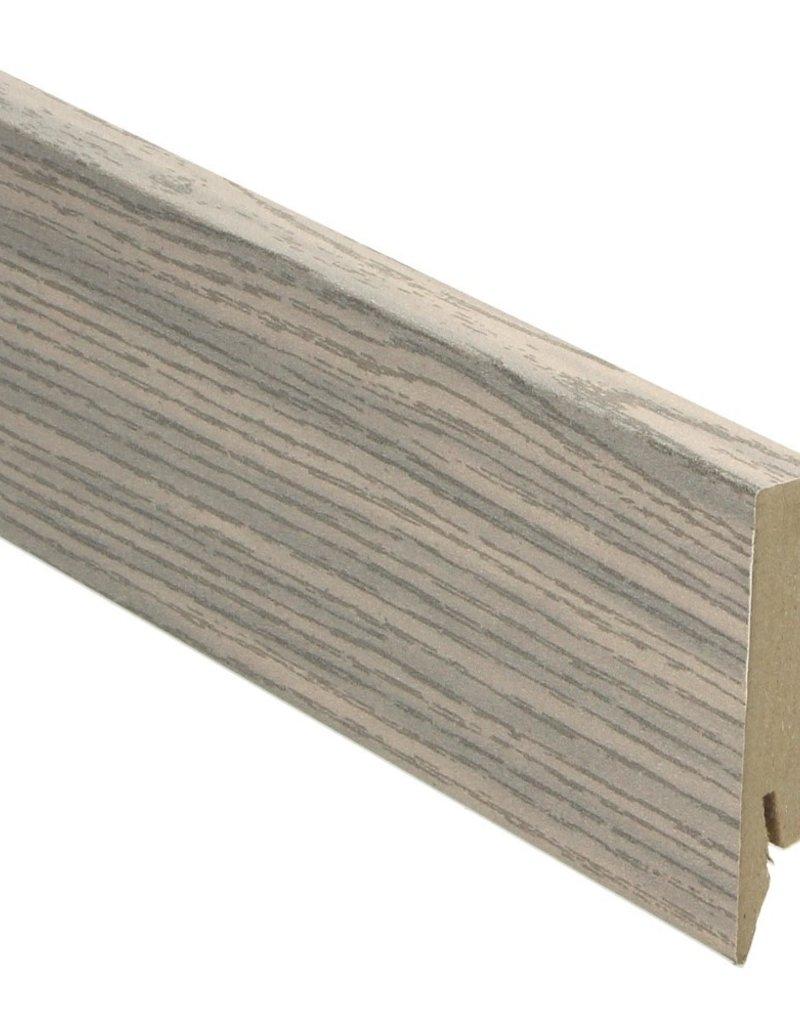 grenen wit rechte hoge plint voor laminaat, pvc en parket