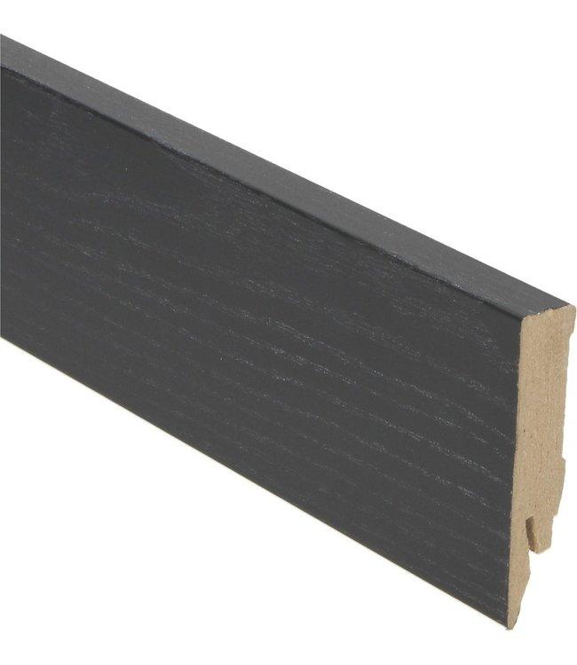 zwart rechte hoge plint voor laminaat, pvc en parket