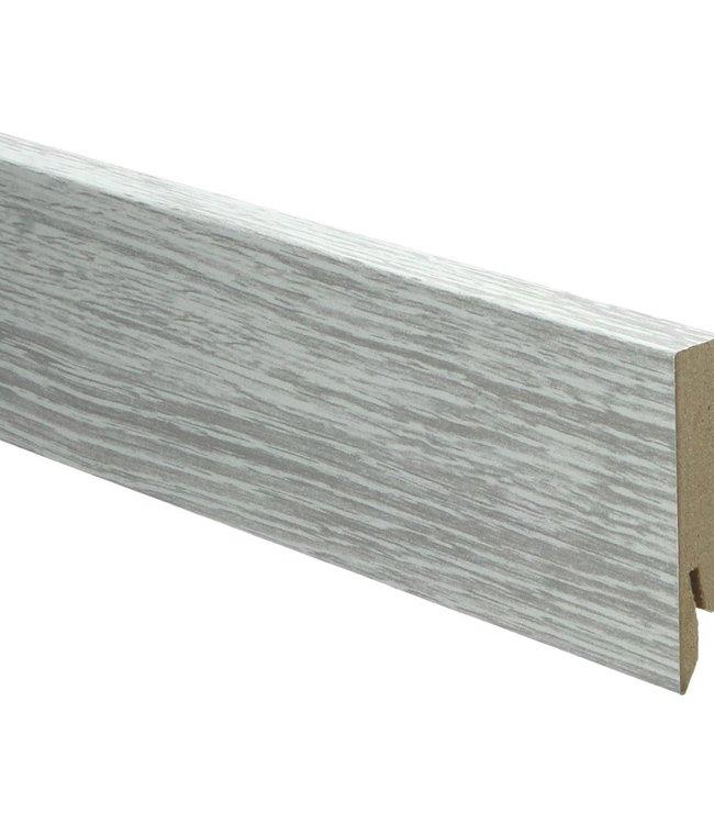 klassieke patina eik grijs rechte hoge plint voor laminaat, pvc en parket