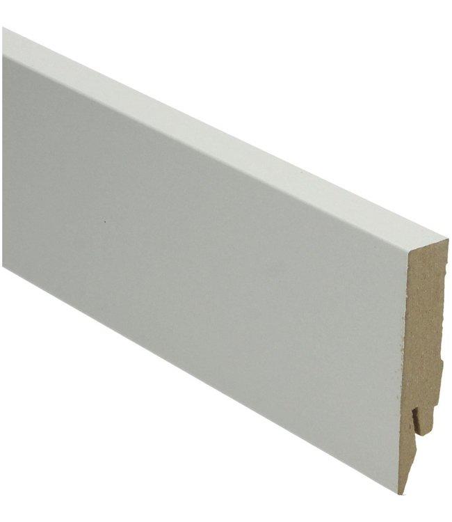 grijze rechte hoge plint voor laminaat, pvc en parket
