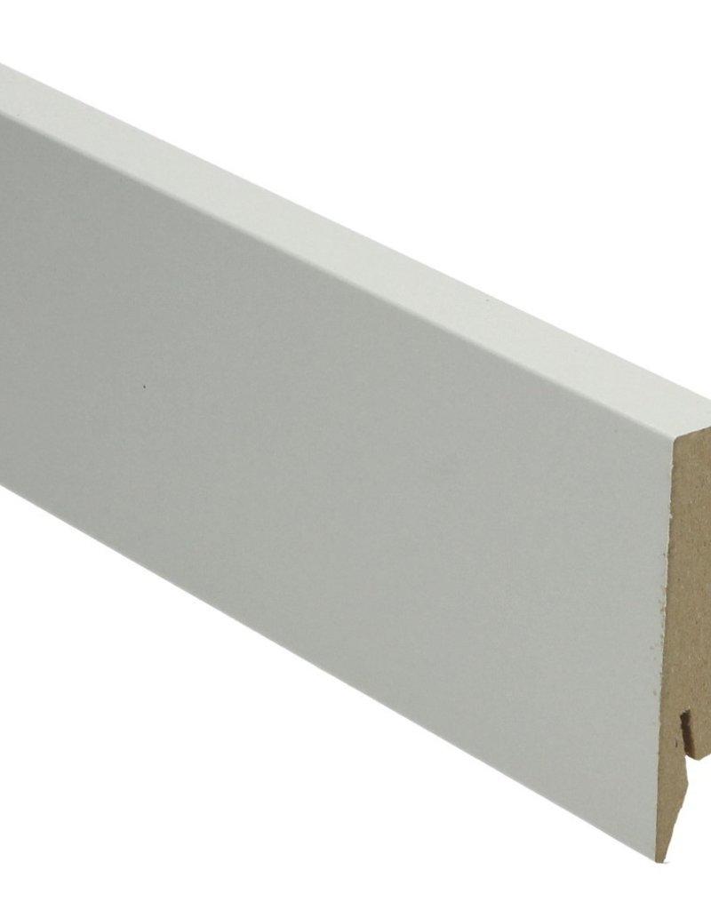 grijs rechte hoge plint voor laminaat, pvc en parket