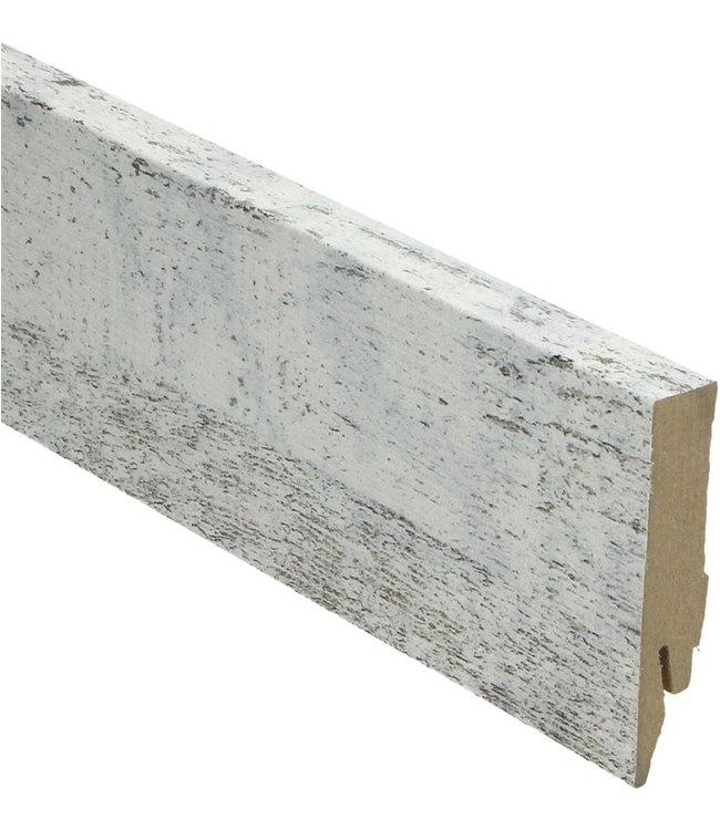 eik whitewash rechte hoge plint voor laminaat, pvc en parket