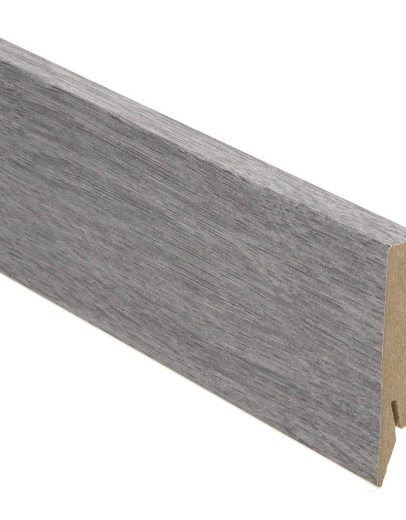 eiken blauwgrijs rechte hoge plint voor laminaat, pvc en parket