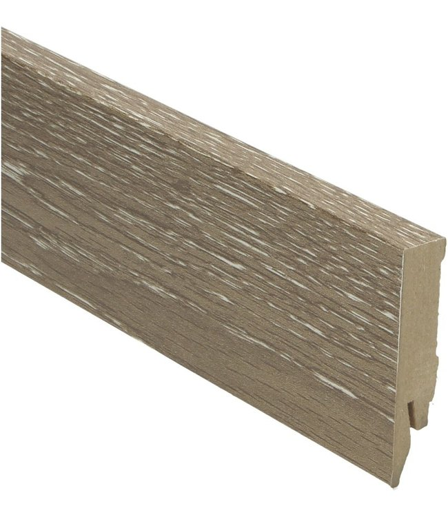eiken geschraapt grijs rechte hoge plint voor laminaat, pvc en parket