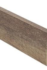 eiken geborsteld bruin rechte hoge plint voor laminaat, pvc en parket