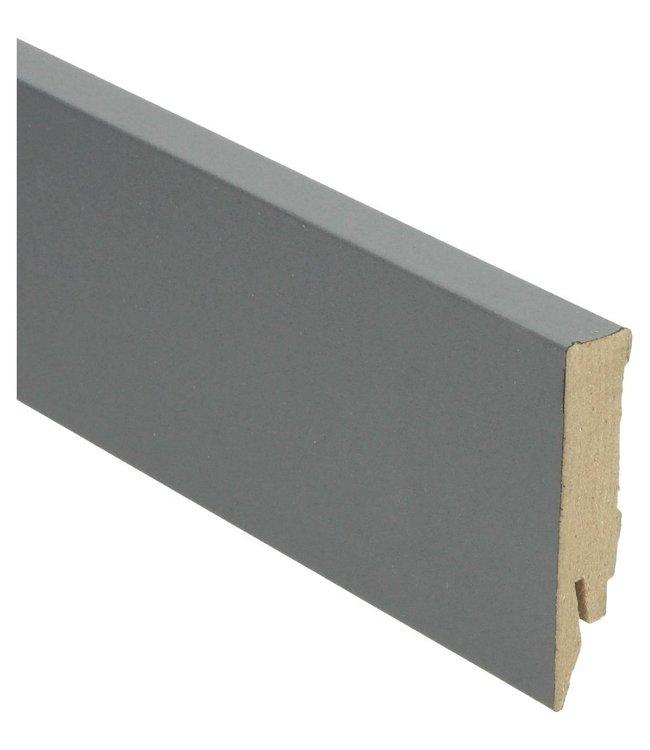 dekkend antraciet rechte hoge plint voor laminaat, pvc en parket