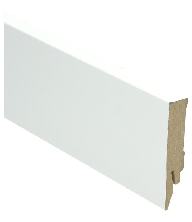 hoogglans wit rechte hoge plint voor laminaat, pvc en parket