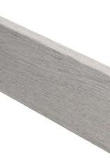 eiken vergrijsd rechte hoge plint voor laminaat, pvc en parket