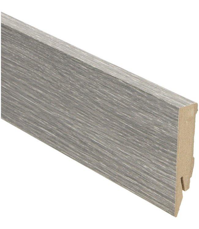 eiken grijs geolied rechte hoge plint voor laminaat, pvc en parket