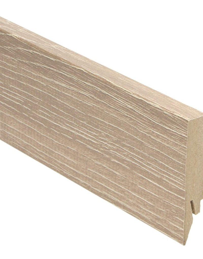 antiek eiken beige rechte hoge plint voor laminaat, pvc en parket