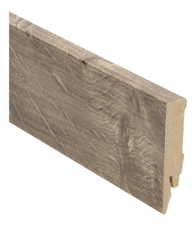 modern eiken bruin rechte hoge plint voor laminaat, pvc en parket