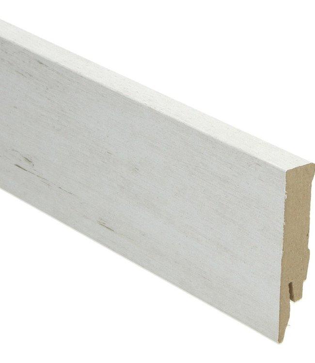 geloogd grenen sneeuw rechte hoge plint voor laminaat, pvc en parket