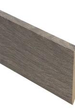 Klassieke eik bruine rechte hoge plint voor laminaat, pvc en parket