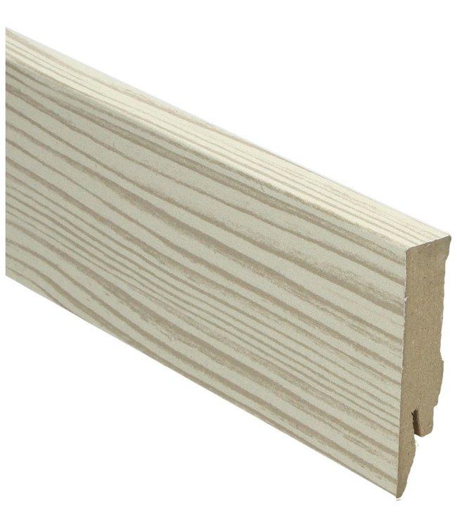 Den natuur rechte hoge plint voor laminaat, pvc en parket