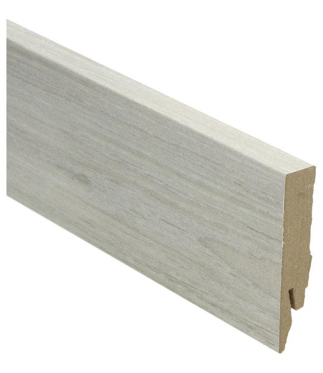 Tennessee grijze eik rechte hoge plint voor laminaat, pvc en parket