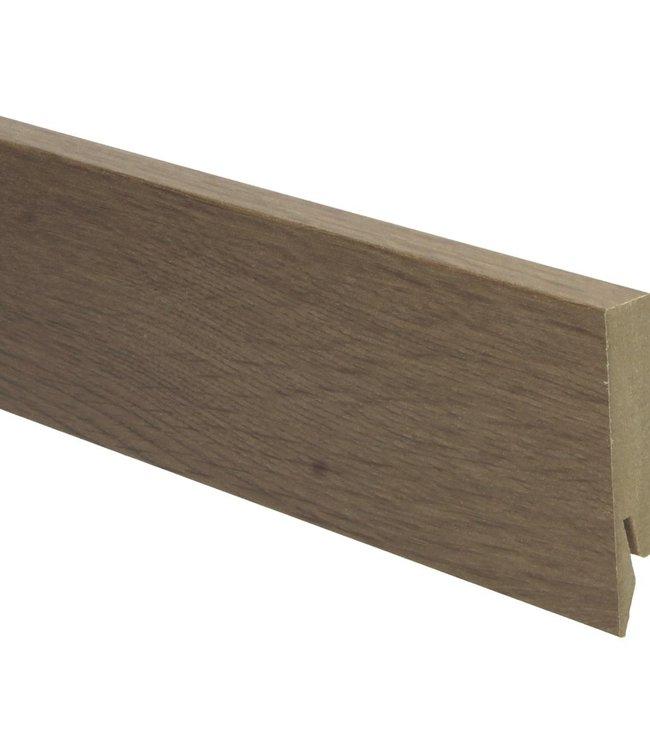 Eiken gerookt rechte hoge plint voor laminaat, pvc en parket