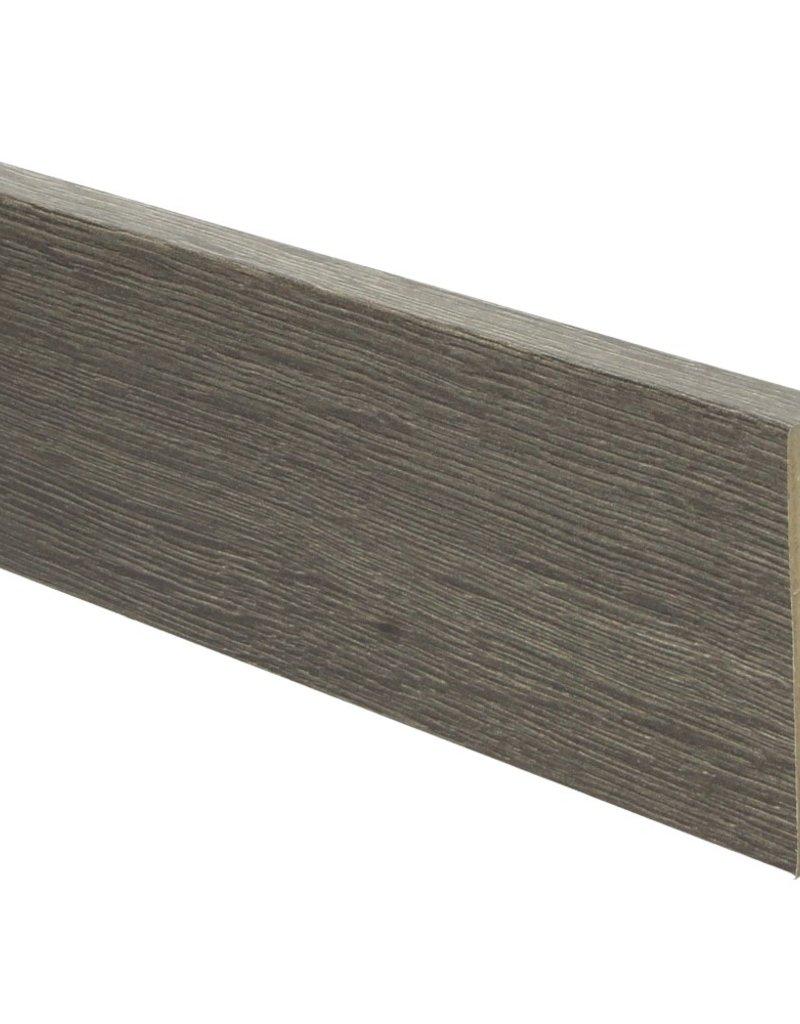 eiken drijfhout bruin rechte hoge plint voor laminaat, pvc en parket