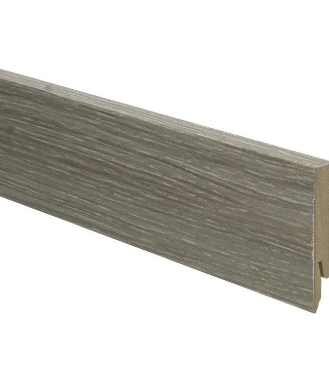 gerookt eiken wit geolied rechte hoge plint voor laminaat, pvc en parket