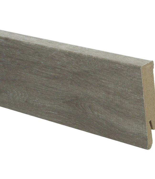 bosland eik bruin rechte hoge plint voor laminaat, pvc en parket