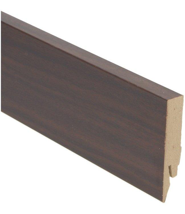 palissander zwartvernist rechte hoge plint voor laminaat, pvc en parket