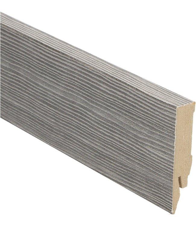 vergrijsd grenen rechte hoge plint voor laminaat, pvc en parket