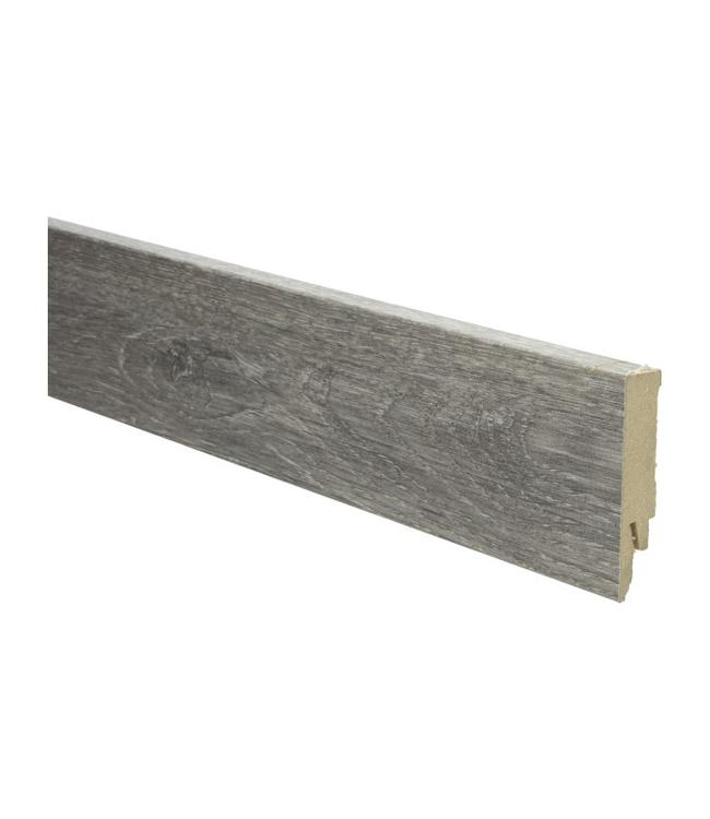 eiken salmiak grijs rechte hoge plint voor laminaat, pvc en parket