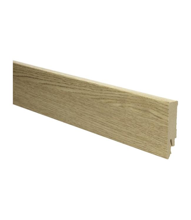 eiken geborsteld rechte hoge plint voor laminaat, pvc en parket