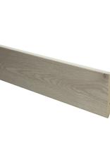 Eiken beige rechte hoge plint voor laminaat, pvc en parket