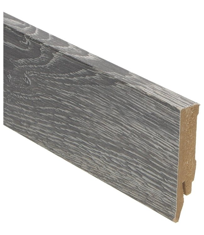 Scarlet Oak dark grey rechte hoge plint voor laminaat, pvc en parket