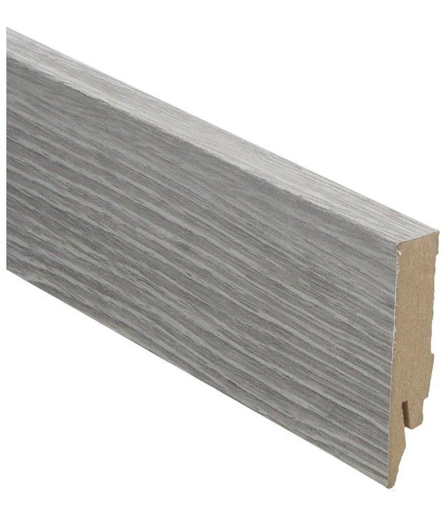 Scarlet Oak light grey rechte hoge plint voor laminaat, pvc en parket