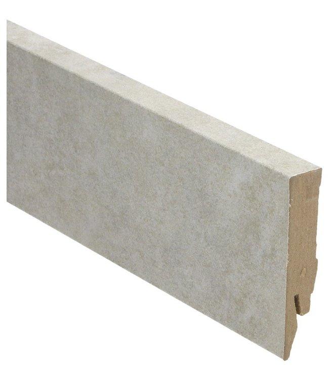 Valley Stone light grey rechte hoge plint voor laminaat, pvc en parket