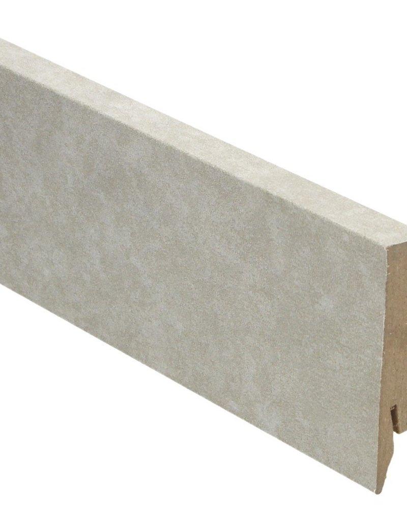 Valley Stone light rechte hoge plint voor laminaat, pvc en parket