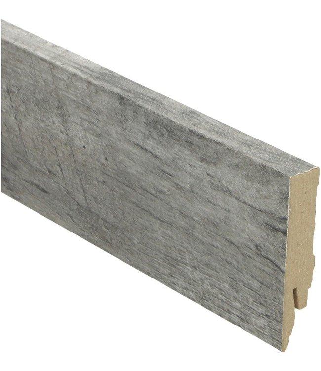 Castle Oak light grey rechte hoge plint voor laminaat, pvc en parket