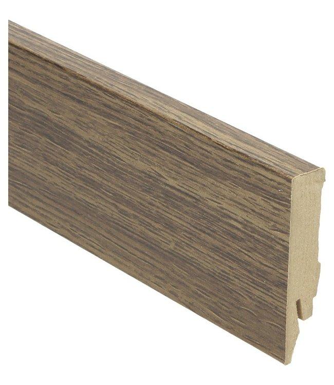 Verdon Oak brown rechte hoge plint voor laminaat, pvc en parket