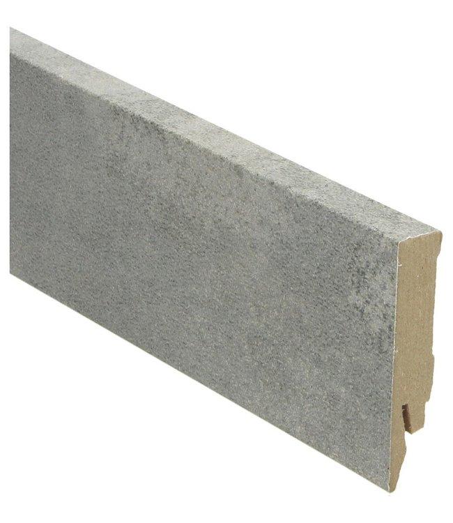 Concrete grey rechte hoge plint voor laminaat, pvc en parket