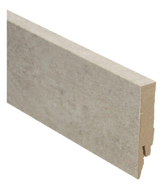 Cantera grey rechte hoge plint voor laminaat, pvc en parket