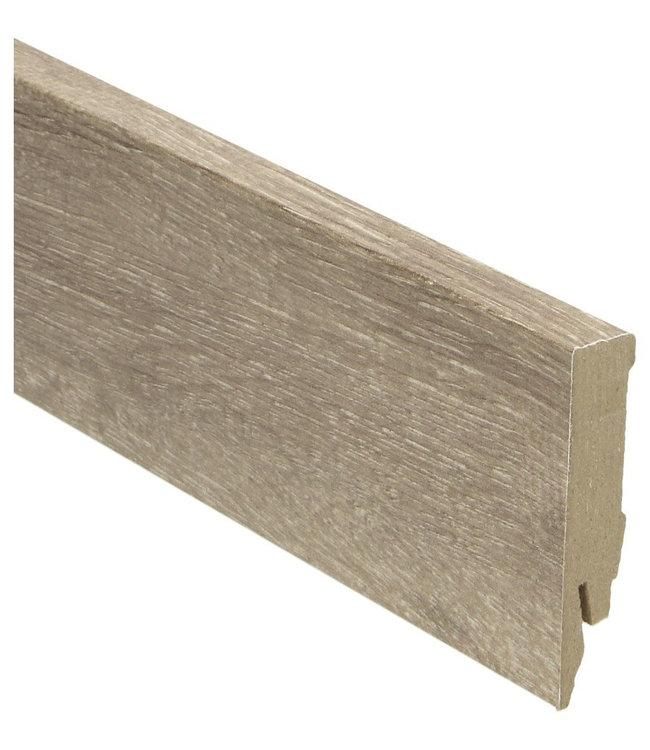 Mountain Oak light grey rechte hoge plint voor laminaat, pvc en parket