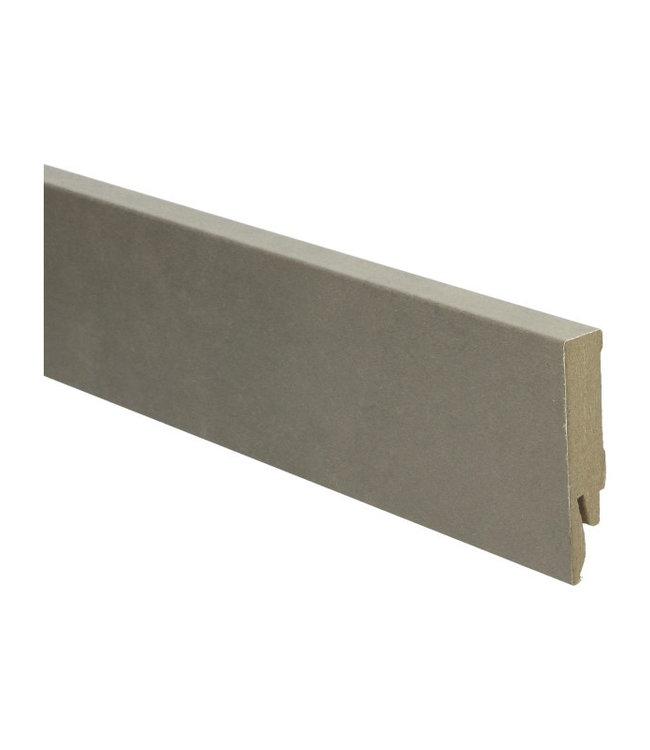 beige beton donker rechte hoge plint voor laminaat, pvc en parket