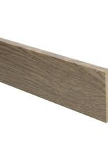 Eiken lichtbruin geolied rechte hoge plint voor laminaat, pvc en parket