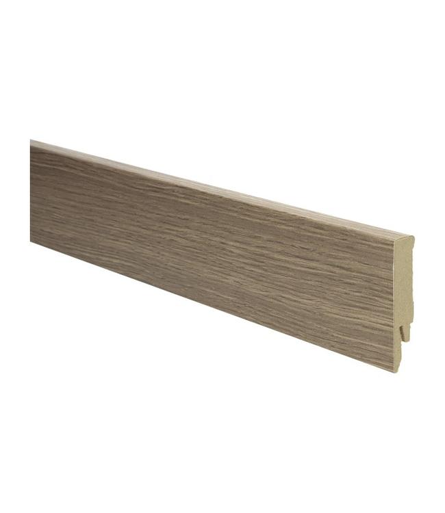 Marquant eiken bruine rechte hoge plint voor laminaat, pvc en parket