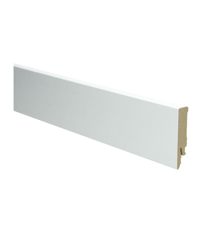 wit RAL 9016 rechte hoge plint voor laminaat, pvc en parket