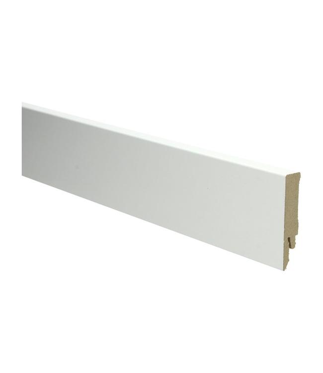 Witte RAL 9010 rechte hoge plint voor laminaat, pvc en parket