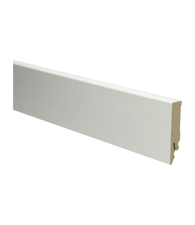 Witte RAL 9001 rechte hoge plint voor laminaat, pvc en parket