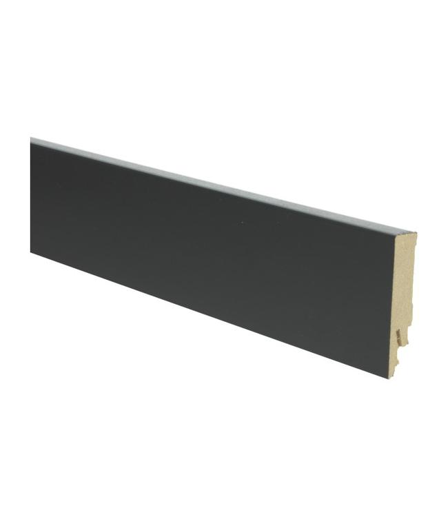 Zwarte RAL 9005 rechte hoge plint voor laminaat, pvc en parket