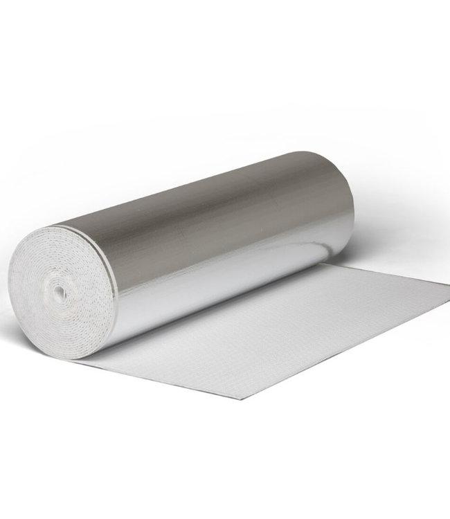 Warmte isolerende ondervloer voor laminaat en klik PVC