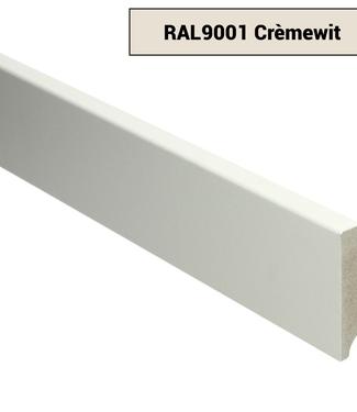 Moderne rechte plint RAL 9001