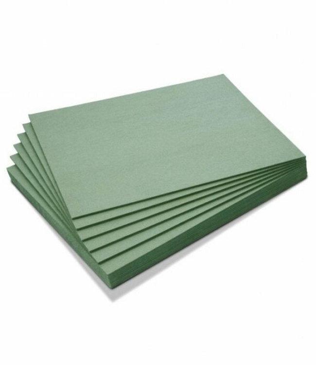 Groene ondervloer platen laminaat, parket en tapijt