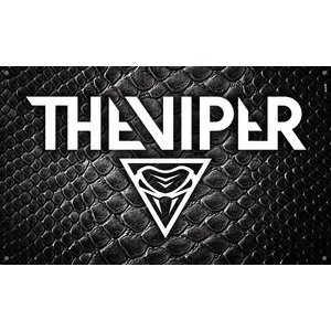 THE VIPER Logo flag - snake
