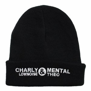 CHARLY LOWNOISE & MENTAL THEO BEANIE - Charly Theo logo, white embroidered